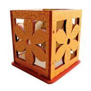 Bougeoir photophore bois ciselé à décorer