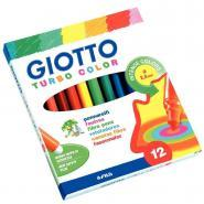 Feutres à pointe moyenne Giotto Turbo Color - Etui de 12