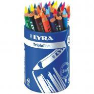 Crayons de couleur aquarellables Triple One - Pot de 36
