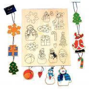 Beleduc - Kit De Loisirs Créatifs - Pendentifs En Bois - Set De 14
