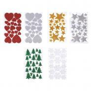 Gommettes Décor de Noël 3D scintillantes - Lot de 120
