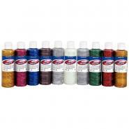 Gel paillete coloris assortis - Boîte de 10 flacons de 250ml