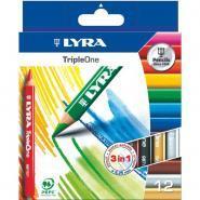 Crayons de couleur Triple One - Diamètre 6.25mm - Etui de 12