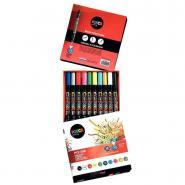 Marqueur Posca brush coloris assortis - Boîte de 10