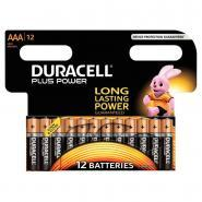 Piles 1,5V LR03 Duracell Plus Power - Blister de 12