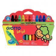 Maxi crayons à la cire incassables Giotto bébé + Taille-crayons - Etui de 10