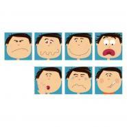Dalles 29x29 cm - Attitude du visage