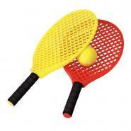 Raquettes mini tennis + 3 balles - Lot de 6
