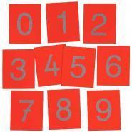 Chiffres 16x13 cm en relief + Boîte de rangement - Set de 10