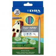 Crayons de couleur Super Ferby triangulaires - Metallic - Boîte de 12