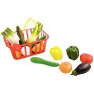 Panier de 15 légumes en plastique de taille réelle