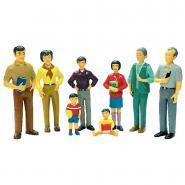 """Personnages """"La famille asiatique"""" - Set de 8"""