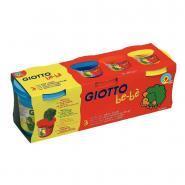Pâte à modeler et à jouer Giotto bebe - Set de 3 pots de 220g