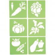 "Pochoirs ""Les légumes"" - Lot de 6"