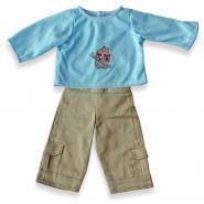 Tenue + sous-vêtement pour poupée garçon de 30 cm - Lot de 3