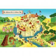 Poster pédagogique en PVC - 76x52 cm - Le château du Moyen âge