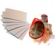 Miroirs en plastique rectangulaires incassables - Lot de 8