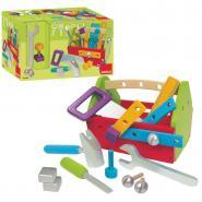 Boîte à outils garnie en bois
