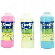 Peinture phosphorescente couleur assortie - Lot de 3 flacons de 250ml