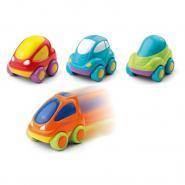 Mini voitures à friction - Lot de 4