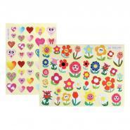 Gommettes Coeurs et Fleurs - Pochette de 432