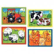 Puzzles progressifs La ferme - Boîte de 4