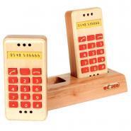 Téléphones à touches en bois - Lot de 2