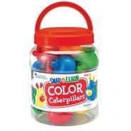 La chenille de couleurs