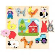 Encastrement à boutons - Les silhouettes de la ferme