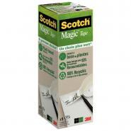 Scotch Magic Green - Rouleau adhésif invisible - 19 mm x 33 m - Pack de 9