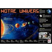 Poster pédagogique en PVC 76x52cm - Thème Le Systéme Solaire