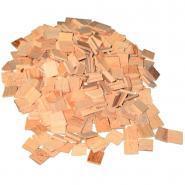 Carrés de mosaïques en bois naturel - Sachet de 1000