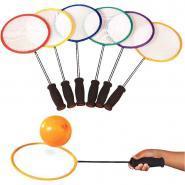 Raquettes de badminton en nylon - Set de 6 + 144 ballons de baudruche