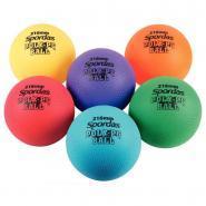 Ballon tous sports grainés diamètre 15cm - Lot de 6