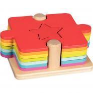 Puzzle d'apprentissage 2 en 1 en bois