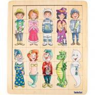 Encastrement interchangeable - Contes de fées - 10 puzzles