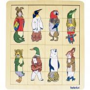 Encastrement interchangeable - Le règne animal - 8 puzzles