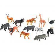 Baril de 60 petits animaux de la jungle