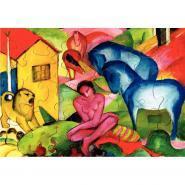 """Puzzle en bois d""""environ 24 pièces, LE REVE de Franz MARC"""