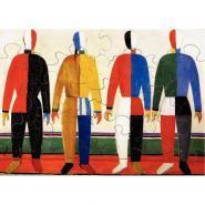 """Puzzle en bois d""""environ 24 pièces, LES SPORTIFS de Kasimir MALEVITCH"""