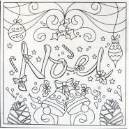 Carton entoilé pré-dessiné - Noël