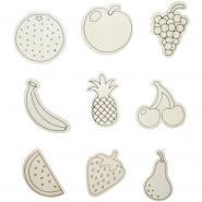 Lot de 9 magnets fruits à décorer