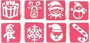 Tampons cubes thème Noël - Lot de 8