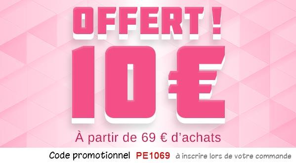 10€ offert à partir de 69€
