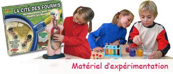 Matériel d'expérimentation pour enfants