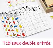 Tableaux à double entrées pour enfants de 4-5 ans