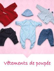 Vêtements pour poupées et poupons