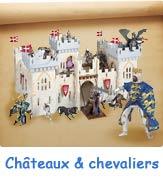 Châteaux-forts et figurines de chevalier pour enfants