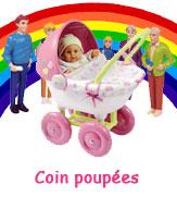 Coin poupeés pour les petites filles