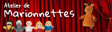 Ateliers de marionettes et marionnettes à main pour enfants